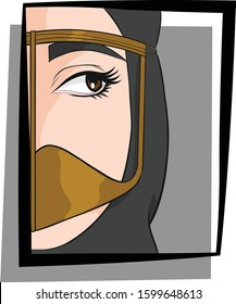Young Emirati woman. Vector illustration