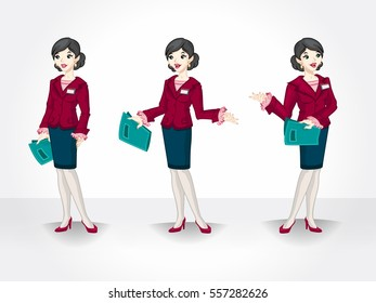 Young executive woman in different pose. Isolated business woman.
