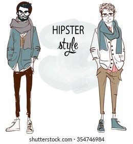young fashion men