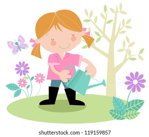 Young Female Gardener