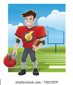 Young Football Star - vector