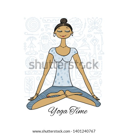 easy padmasana drawing