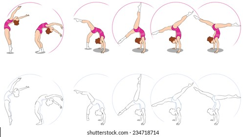 Gymnastic Poses Images, Stock Photos & Vectors | Shutterstock