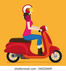 Scooter Girl Images, Stock Photos & Vectors   Shutterstock