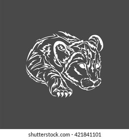 young lion logo, vector  lionet, isolated lion icon