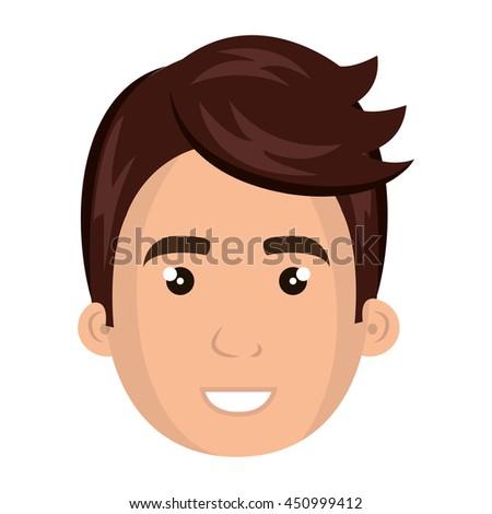Young Male Pompadour Cartoon Design Vector Stock Vector Royalty