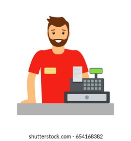A young man is a lodger. Vector illustration isolated on white background