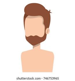 young man shirtless avatar character