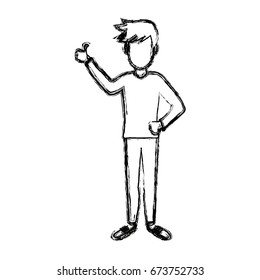 young man standing gesturing character person image