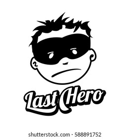 young masked superhero face expression vector stock vector royalty Tango Emoticon young masked superhero face expression vector logo isolated on white background vintage style man