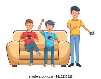 Friends On Couch Vector Images Stock Photos Vectors Shutterstock