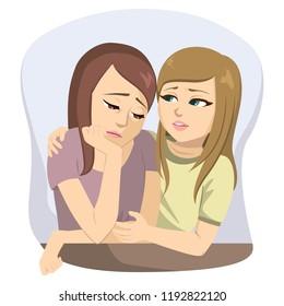 Teen comforts friend