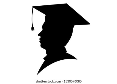 Young scholar silhouette