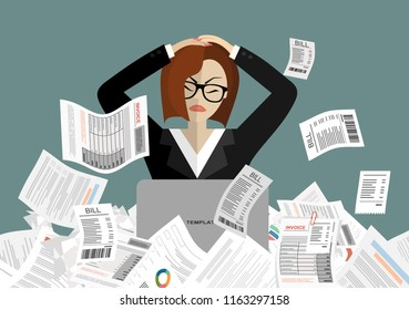 Young stressed woman have no money to pay debts, holding head in despair, can not pay bills, having financial troubles. Planning budget concept