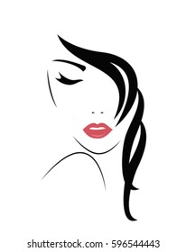 Young Woman face. Vector