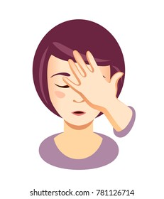 Woman Facepalming Emoji Images, Stock Photos & Vectors