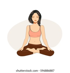 Young woman practicing yoga and meditate
