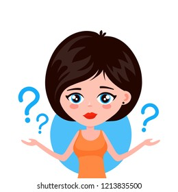 Confused Woman Cartoon Stock Vectors Images Vector Art Shutterstock