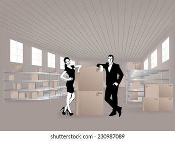 Young woman in warehouse, they are from the Customer Service