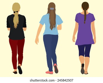 Young Women Walking Away