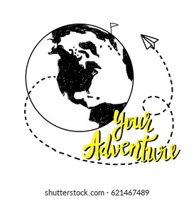 World map sketch images stock photos vectors shutterstock drawing by hand childrens drawing world map geographical map gumiabroncs Gallery