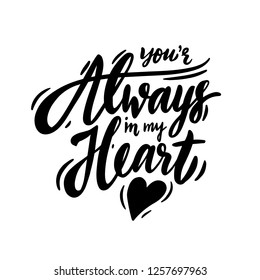 what does you will always be in my heart mean