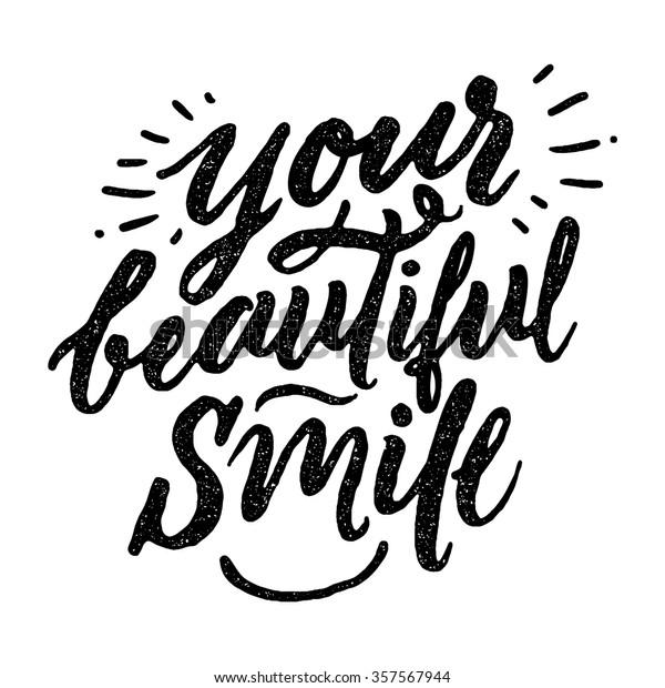 vector de stock libre de regalias sobre your beautiful smile
