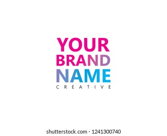 Your brand name logo design.