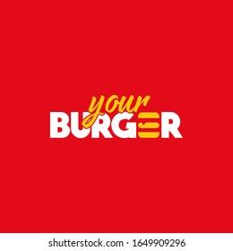 Your Burger Logo Design Illustration