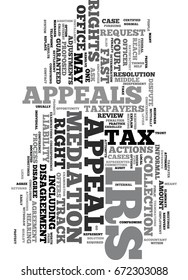 YOUR IRS TAX APPEAL RIGHTS TEXT WORD CLOUD CONCEPT