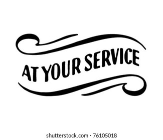 At Your Service 2 - Retro Ad Art Banner