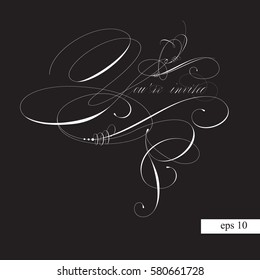 you re invited calligraphy images stock photos vectors shutterstock