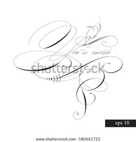 youre invited templates invitations handmade stock vector royalty
