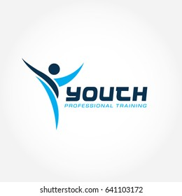 Youth Professional Training Program Logo Symbol