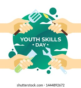 Youth Skills Day Vector Illustration for Background, Poster and Banner Design