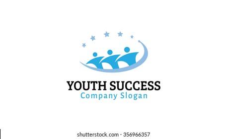 Youth Success Logo Symbol  Illustration Design