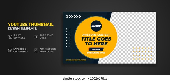 Youtube thumbnail and web banner template Premium Vector