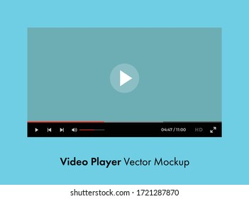 Youtube video player vector mockup. Premium quality.