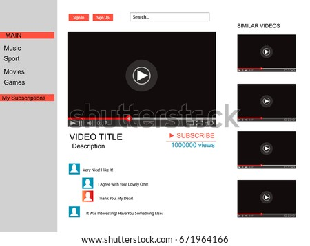 Youtube video player template
