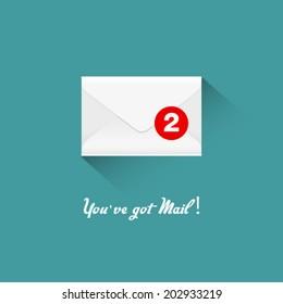 You've got mail, vector illustration