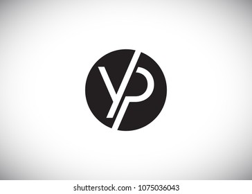 YP Initial Logo designs with circle background