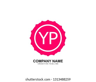 YP initial logo template vector