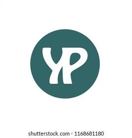 yp initials geometric company logo