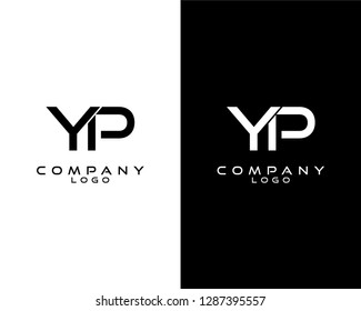 yp/py modern logo design template vector . vector logo for company logo identity