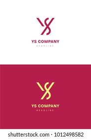 YS company logo template.