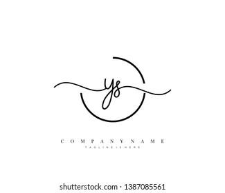 YS initial handwriting logo template vector