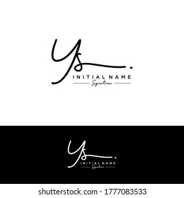 YS Initial letter handwriting and signature logo.