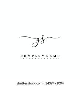 YS Initial luxury handwriting logo vector