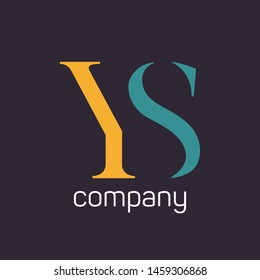 YS logo template. Company logo. Monogram. Letters Y and S.