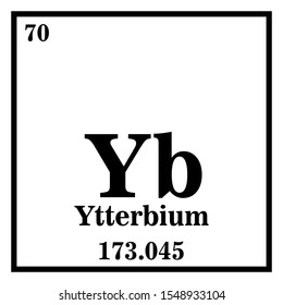 Ytterbium Periodic Table of the Elements Vector illustration eps 10